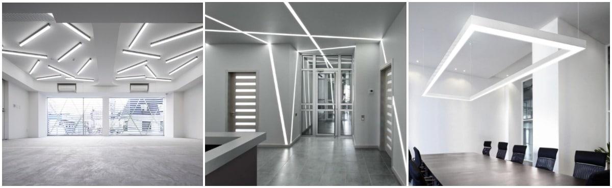 Виды линейных светодиодных светильников