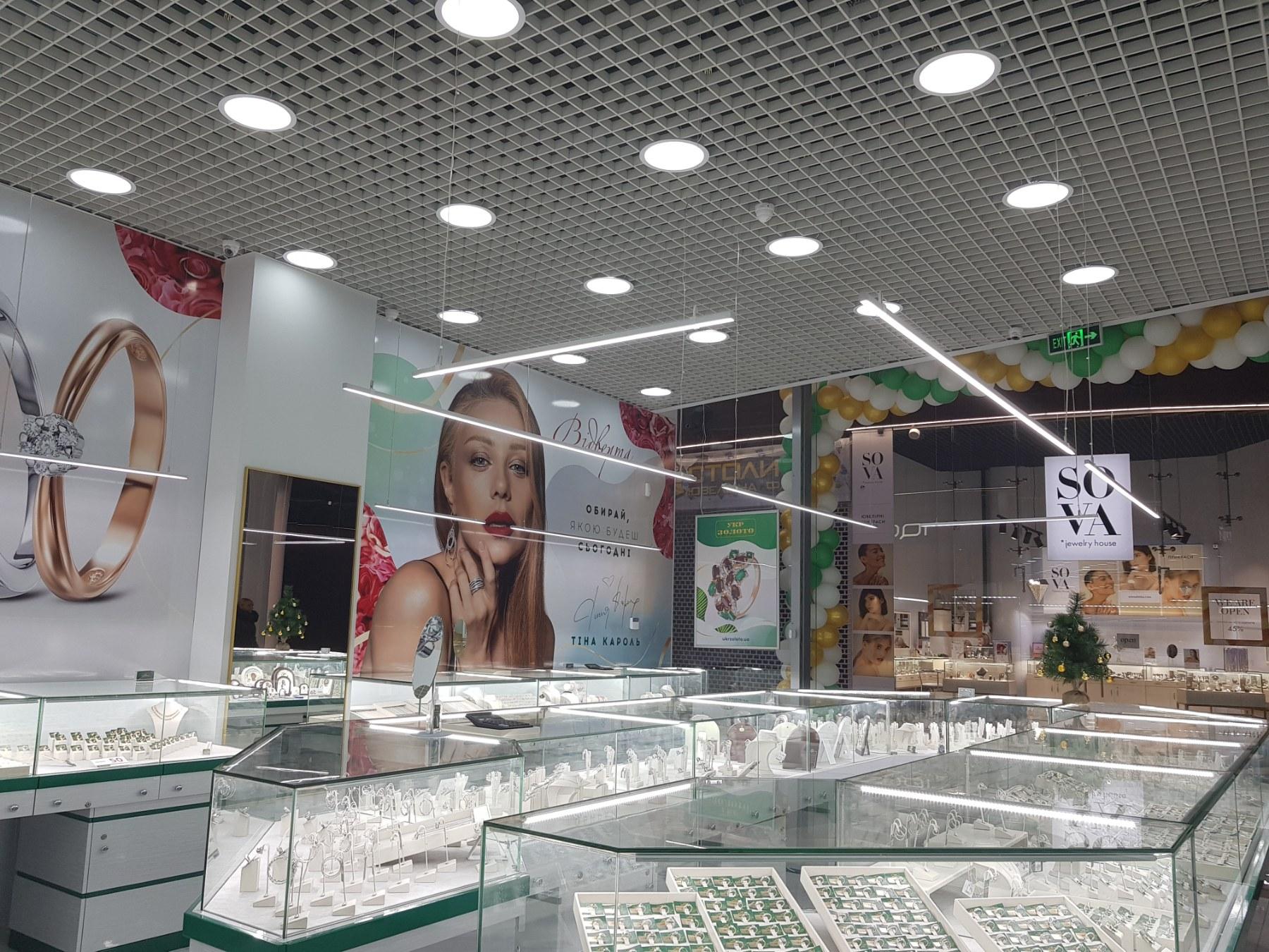 Освещение ювелирных магазинов