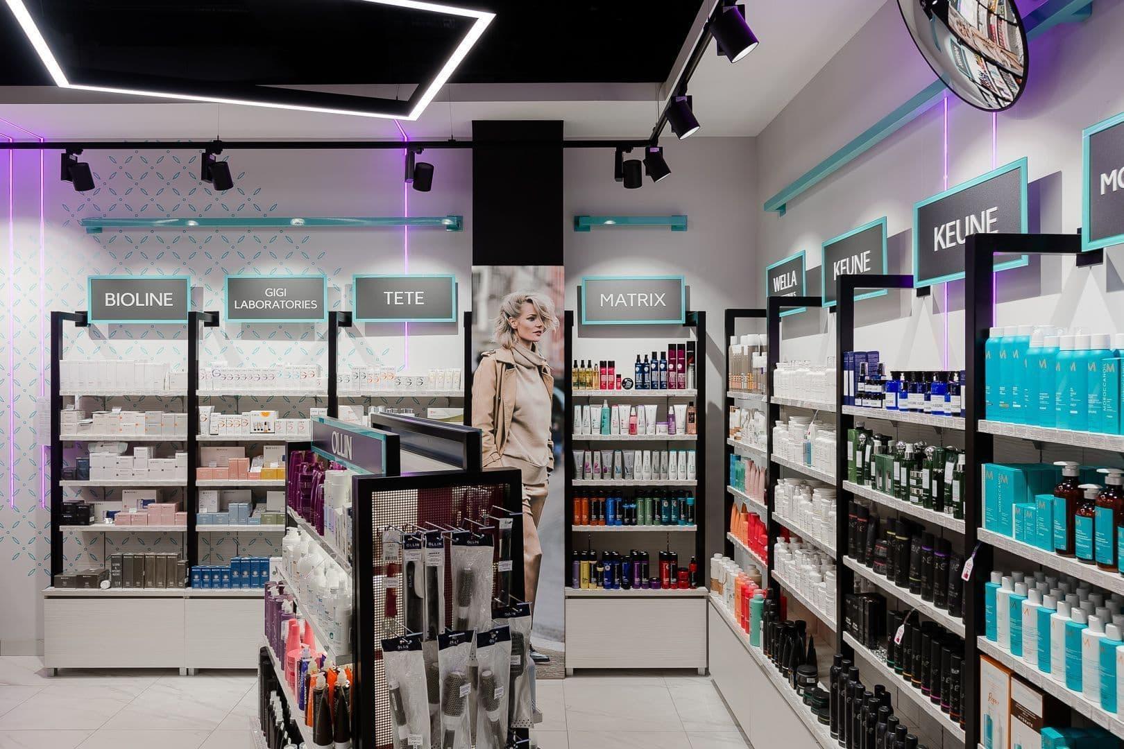 LED освещение магазинов косметики