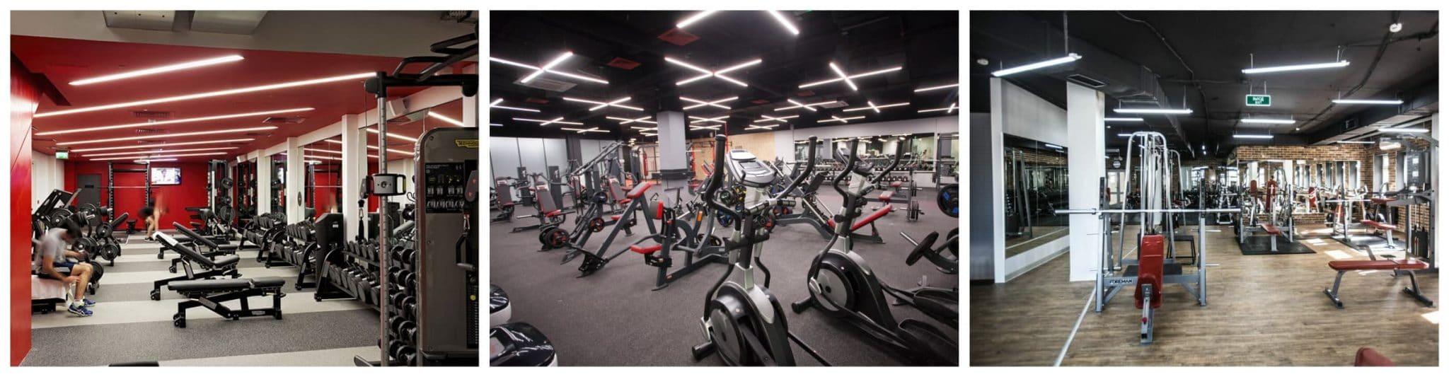 LED освещение спортзалов