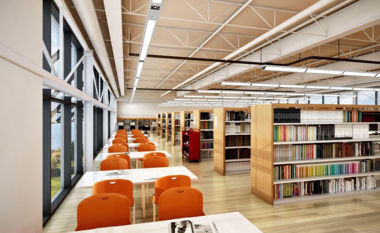 led освещение в школьных библиотеках